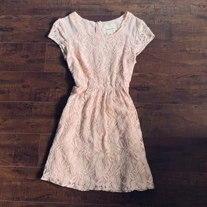 UO Rose Pink Lace Dress